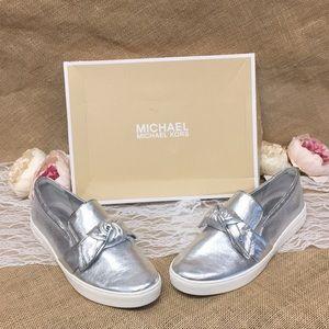 Michael Kors Willa Metallic Slip-On Sneakers 10